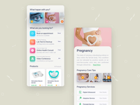 Doctor Appointment health service product dental clinic dental care babycare pregnancy health care healthy health app healthcare clean mobile ui health mobile app animation ui design app color clean design