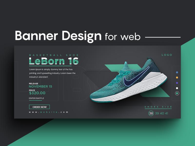 Facebook cover / web banner typography social media banner design simple design shoe normal creative design instagram banner facebook banner branding