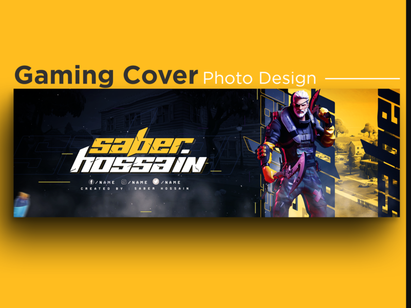 Cover photo Gaming / Banner Design for web / Gaming banner gamers gaming app fortnite yellow thumbnail youtube banner game design gaming website ux branding facebook cover ui design banner design social media creative design instagram banner facebook banner