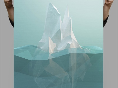 Low-Poly Iceberg ice poster cold winter snow cinema4d iceberg low-poly