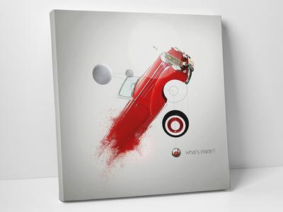 Cars on canvas