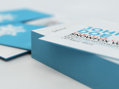 Business Cards business cards cinema 4d edge colored