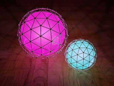 Orb Rebound orb c4d scifi cinema4d light balls atom array