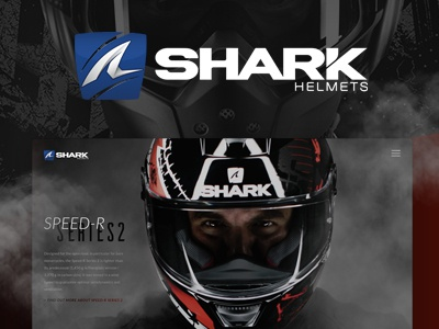 Shark Helmets. Redesign Concept shark-helmet interface webdesign