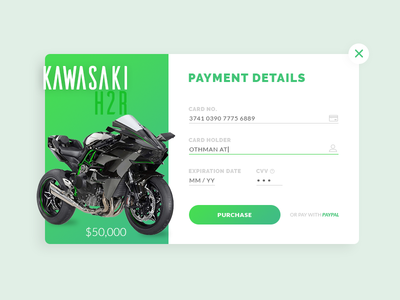 Daily UI #002 - Credit Card Checkout payment checkout daily ui