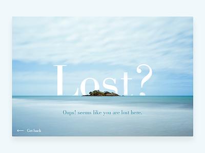Daily UI - Day 8   404 Page 404 dailyui daily ui
