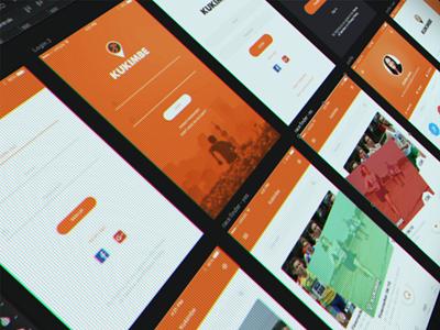 App design - Kukimbe mobile app design app