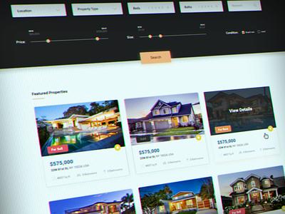 Real Estate Listing - work in progress web design listing real estate