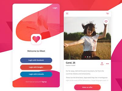 Dating app design flat design app dating dating app mobile design mobile app