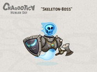 Mobile android game Skeleton - Boss