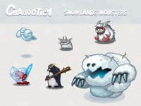 Mobile android game: Snow monsters