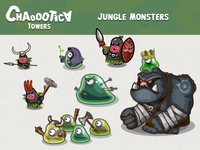 Mobile game android game: Jungle monsters