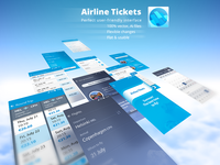 "Free download ""Mobile App vector UI"", booking airline tickets"