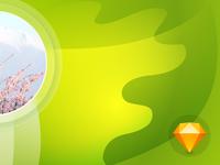 """""""Spring Meditation"""" free download sketch source"""