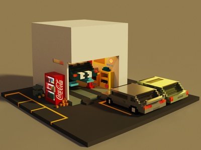 Car Workshop Concept Art