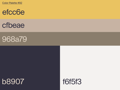 Color Palette #92 motion visual identities brand color palette palette color ui graphic design branding motion graphics animation
