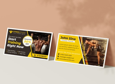Gym and Fitness Training Center Promotional Business Card