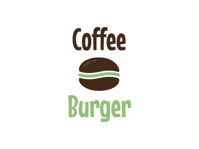 Coffeeburger fun place coffee burger logo