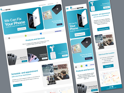 Phone repair business ui branding webdesign website