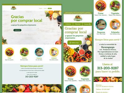 Greenmarket branding ui webdesign design website