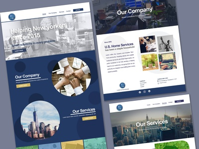 Multi-service Agency ui branding webdesign