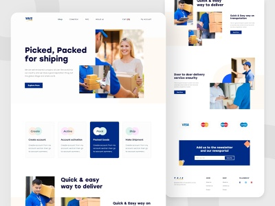 VAIS- Landing page (eCommerce fulfilment solution for online) creative design typography ux landing page concept landing page ui landing page design landing page landingpage clean ui clean ui design uidesign ui  ux uiux ui 2020calendar 2020 design 2020 trends 2020 trend 2020