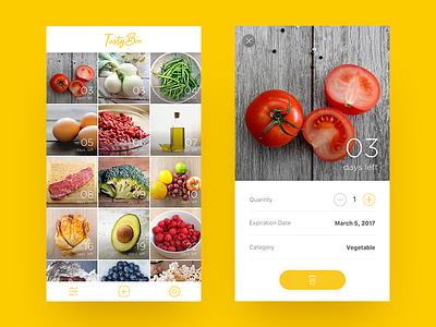 Food Expiration Date List on the App photos tasty yellow list vegetable app foods ui