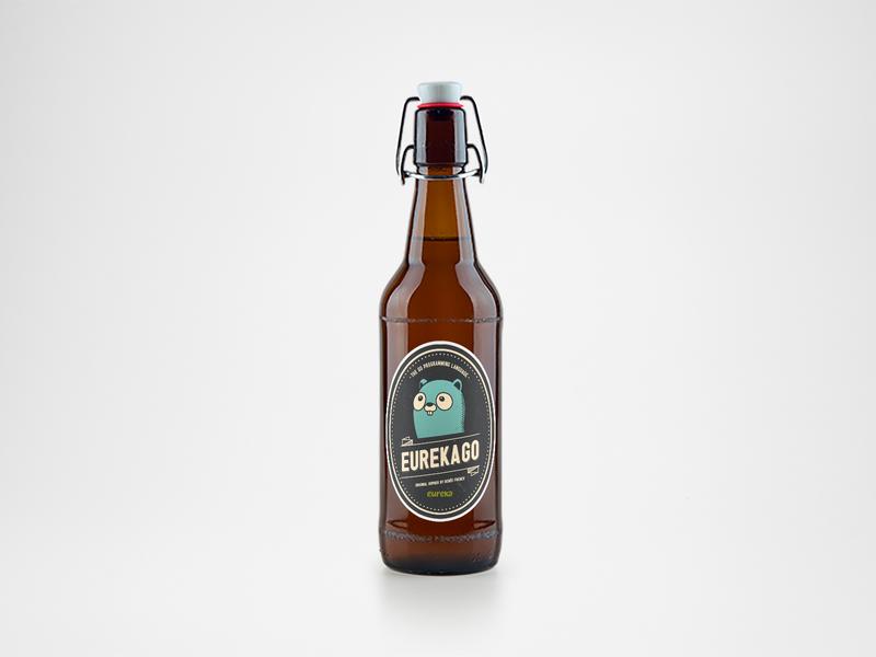 Go Beer Bottle event label design graphic  design sticker gopher go packagedesign bottle beer