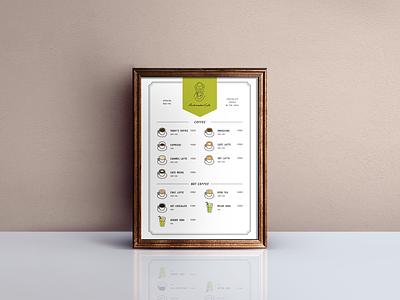 Cafe Menu Design coffee illustation graphic design menu cafe