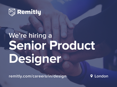 We're hiring! fintech product remitly london designer jobs hiring productdesign design