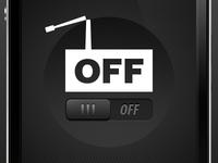 ON/OFF Slider - OFF state