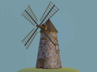 Low poly Mill mill illustration pretty games lowpoly design blender b3d art 3d art 3d