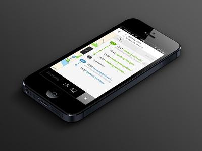 nextr app ui interface user interface app iphone clean minimal transportation guidance map