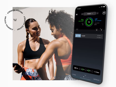 The WHOOP Journal survey fitness user experience app data visualization user interface interface ux ui