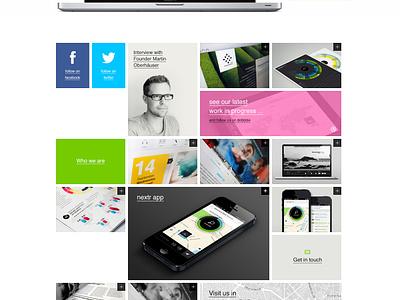 Bureau Oberhaeuser Homepage Redesign homepage interface ui ux portfolio bureau