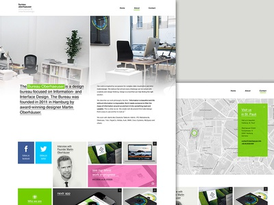 Bureau Oberhaeuser Website Redesign
