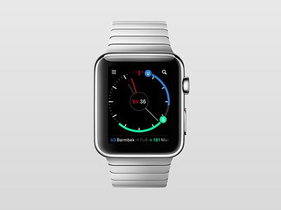 Nextr Watch Concept ui ux interface watch apple watch smartwatch app public transportation