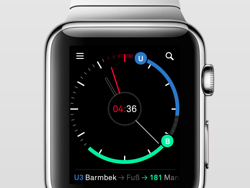 Nextr Watch Concept ui ux interface watch apple watch smartwatch app public transportation