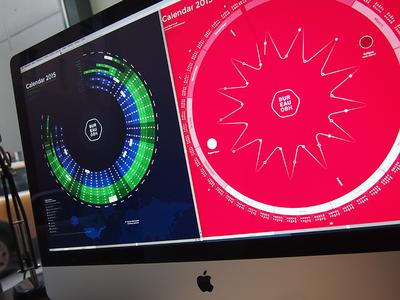 Bureau Oberhaeuser Calendar 2015 calendar kalender infographic information architecture 2015 new year circle moon