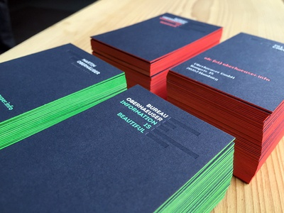 Bureau oberhaeuser business cards by bureau oberhaeuser dribbble bureau oberhaeuser business cards reheart Images