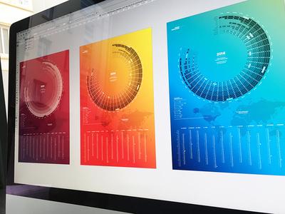 Bureau Oberhaeuser Calendar 2016 colors gradient circle new year 2016 information design infographic kalender calendar