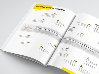Media Economy Report Vol.12 Timeline annual report editorial magazin data visualization information design infographic