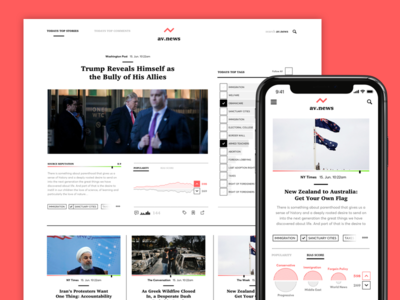 Anti Fake News Website newsfeed newspaper news iphone user experience user interface interface ux ui