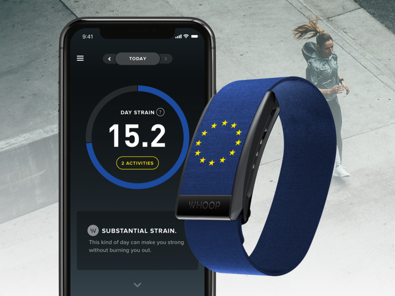 WHOOP Launches in Europe europe whoop tracker sport ux design ui design user experience user inteface fitness app app ux ui