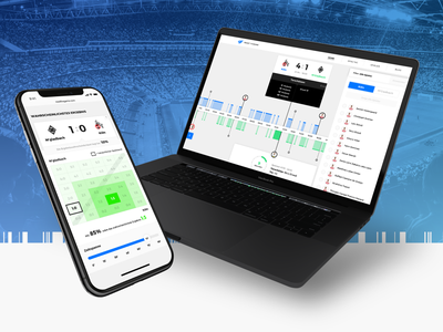 Read the Game soccer football user experience user inteface infographic informationdesign statistics interface ux ui