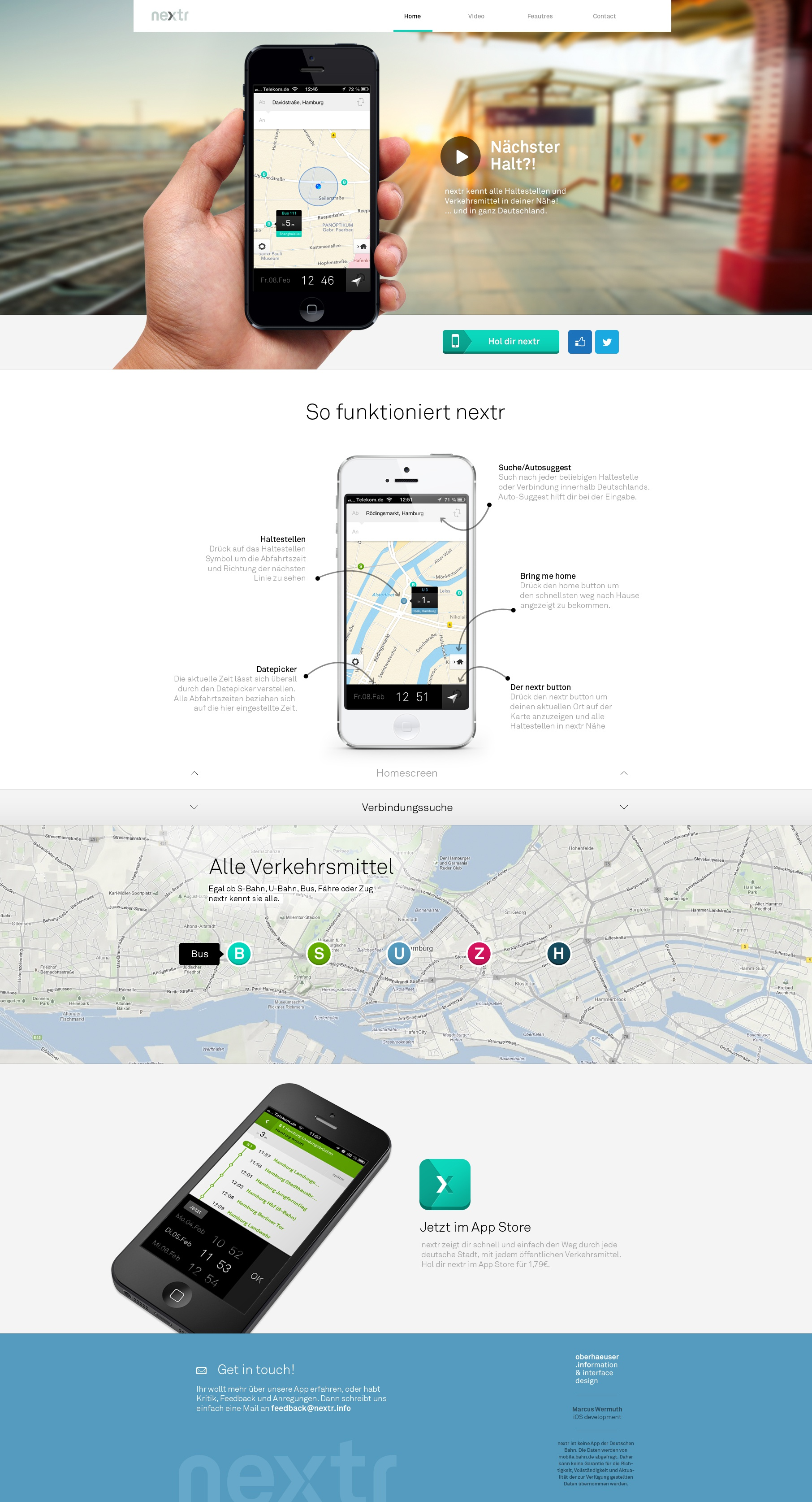Nextr homepage realpixel