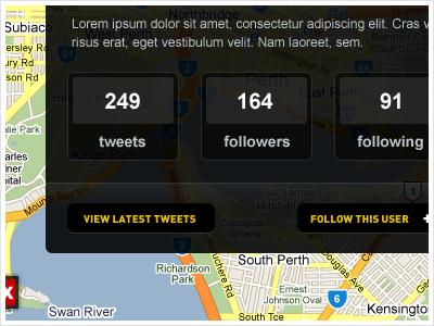 User Details ui app google yellow dark twitter tweet web app