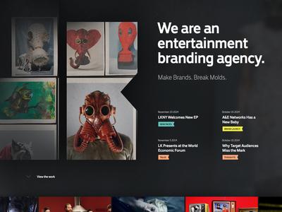 LK type website introduction homepage landing web