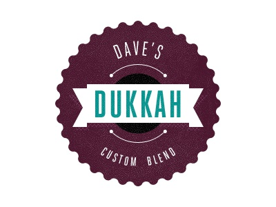 Fun Dukkah Jar Label label typography type