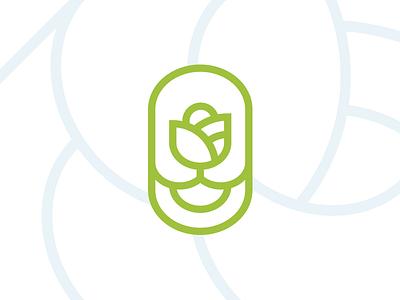 Logomark growth circular circle o rose logo mark identity branding brand logo
